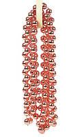 Бусы на ёлку, пластиковые, цвет: медный 14мм*2,7м