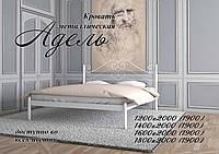 Металлическая кровать Адель ТМ «Металл-Дизайн» Белый/Черная медь/Коричневый/Черное золото, 1200х1900(2000)