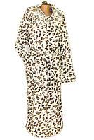 Халат женский длинный махровый с капюшоном. Ткань микрофибра-шиншила. Размеры 46-48/50-52/54-56. П-во Украина