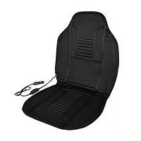 Накидка на сиденье  с подогревом  Elegant Plus 100х50см черная EL 100 576
