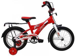 Велосипед двухколесный с дополнительными колесиками velox