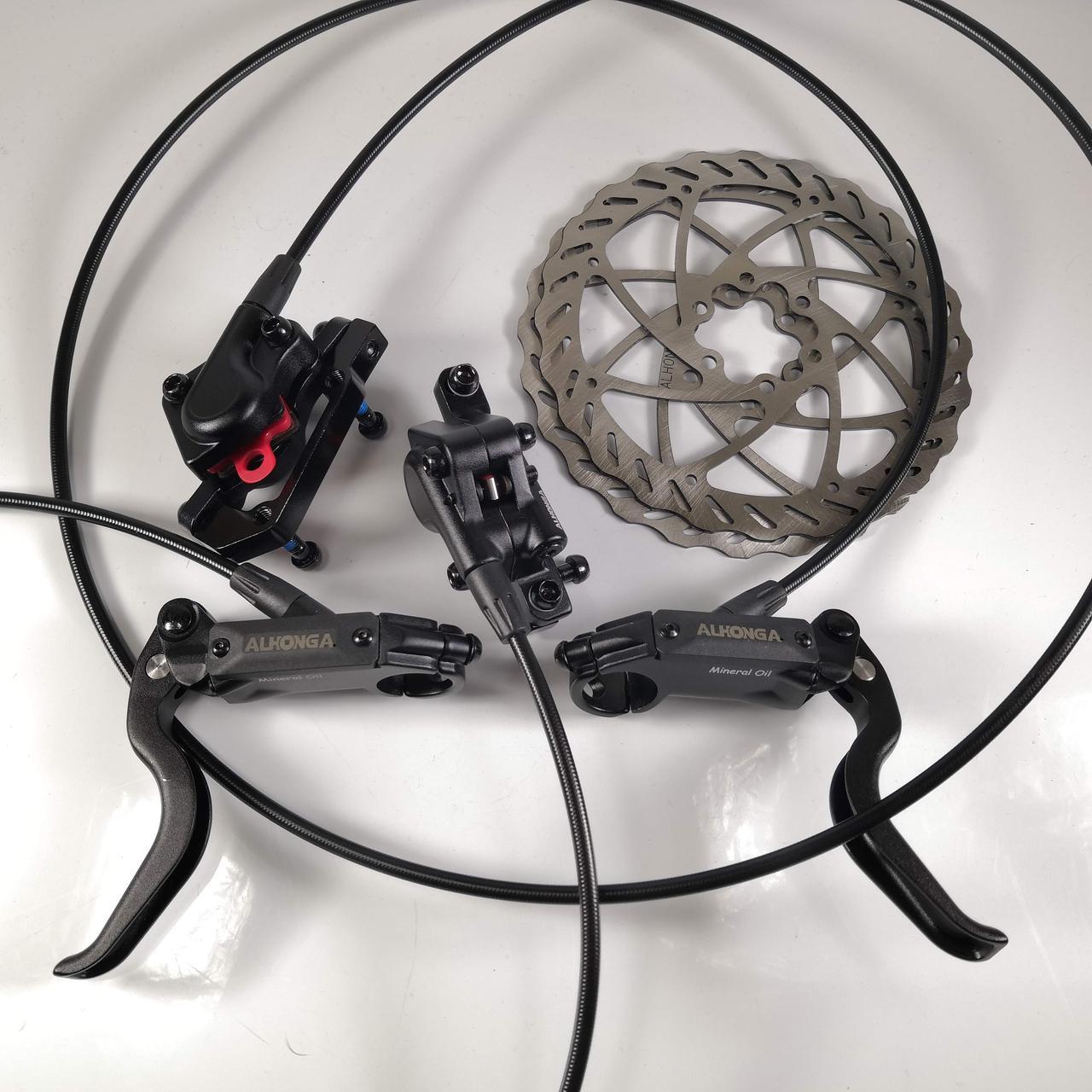 Тормоза гидравлические дисковые ALHONGA 160мм для велосипеда