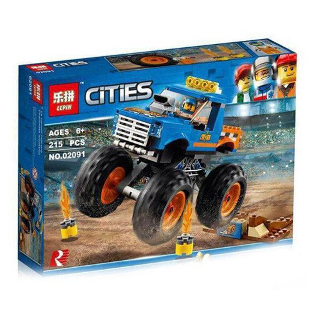 "Конструктор LEPIN 02091 ""Монстер Трак"" 215 деталей (Аналог LEGO City 60180) Нове 2018 р"