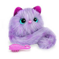 Pomsies Интерактивная кошечка Флаффи фиолетовый Pet Kitten Speckles 01951-Sp