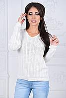 Женский свитер в узорчатые полосы, фото 1