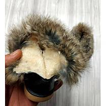 Ботинки дутики  детские зимние с мехом на девочку черные, фото 3