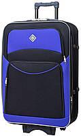 Дорожный чемодан на колесах тканевый Bonro Style большой черно-фиолетовый