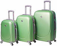 Набор чемоданов Bonro Smile 3 штуки салатовый (10050303)