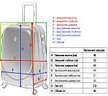 Пластиковый дорожный чемодан на колесах Bonro Smile маленький бордовый, фото 4