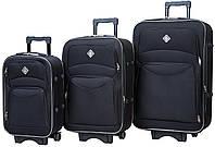 Набор чемоданов Bonro Style 3 штуки черный (10010300)