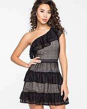 Женское платье из гипюра с воланами через одно плечо (5131-5130ie), фото 2