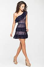 Женское платье из гипюра с воланами через одно плечо (5131-5130ie), фото 3