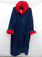 Теплый мужской халат с капюшоном полированная махра