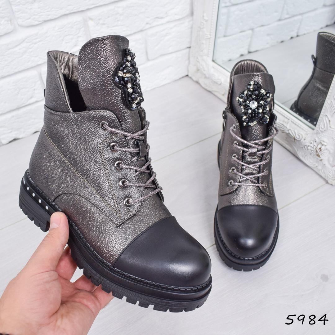 559e6ba7 Купить Ботинок женский Gia бронзу женскую обувь по низкой цене в ...