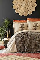 Набор постельное белье с пледом Karaca Home - Aztec tarcin 2019-1 евро