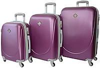 Набор чемоданов Bonro Smile 3 штуки сиреневый (10050318)
