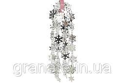 Гирлянда Снежинки, 2.7 м, цвет - серебро, 5 штук