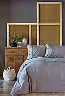 Постельное белье Karaca Home сатин - Infinity gri 2019-1 серый евро