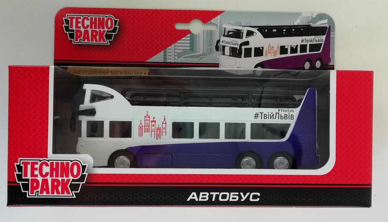 Машина металлическая 1:43 Двухэтажный Автобус Твой Львов SB-16-21-LV Технопарк