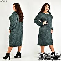 Повседневное женское платье для полных женщин размеры 54.56.58.60.62.64