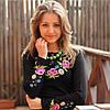 Женская вышиванка Букет с вышитым длинным рукавом | Жіноча вишиванка Букет з вишитим довгим рукавом