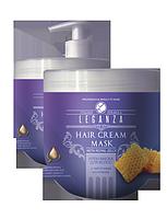 МАСКА - КРЕМ для тонких и ослабленных волос с маточным молочком 1000 мл LEGANZA, фото 1