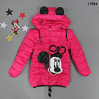 Демисезонная куртка Minnie Mouse для девочки. 130 см, фото 1