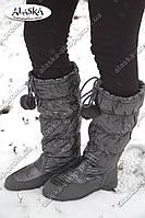 Женские сапоги серые (Код: А-03), фото 1