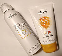 Hyalual спрей Daily Delux и солнцезащитный Safe Sun SPF30 по 150мл