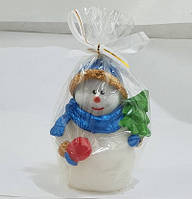 Снеговик с Ёлочкой / Свеча Новогодняя 11 см