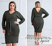 Платье 184 травка R-21641 хаки