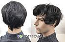 Натуральний чоловічий парик, фото 7