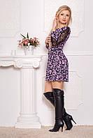 Стильное платье из трикотажа и гипюра