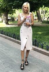 Платье-сарафан пудра Viravi Wear, модель 1008