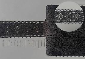 Мереживо натур. чорне 4,3 см/15ярд Z5010В