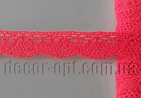 Кружево натур. красное Волна 1,6см/15ярд К02117
