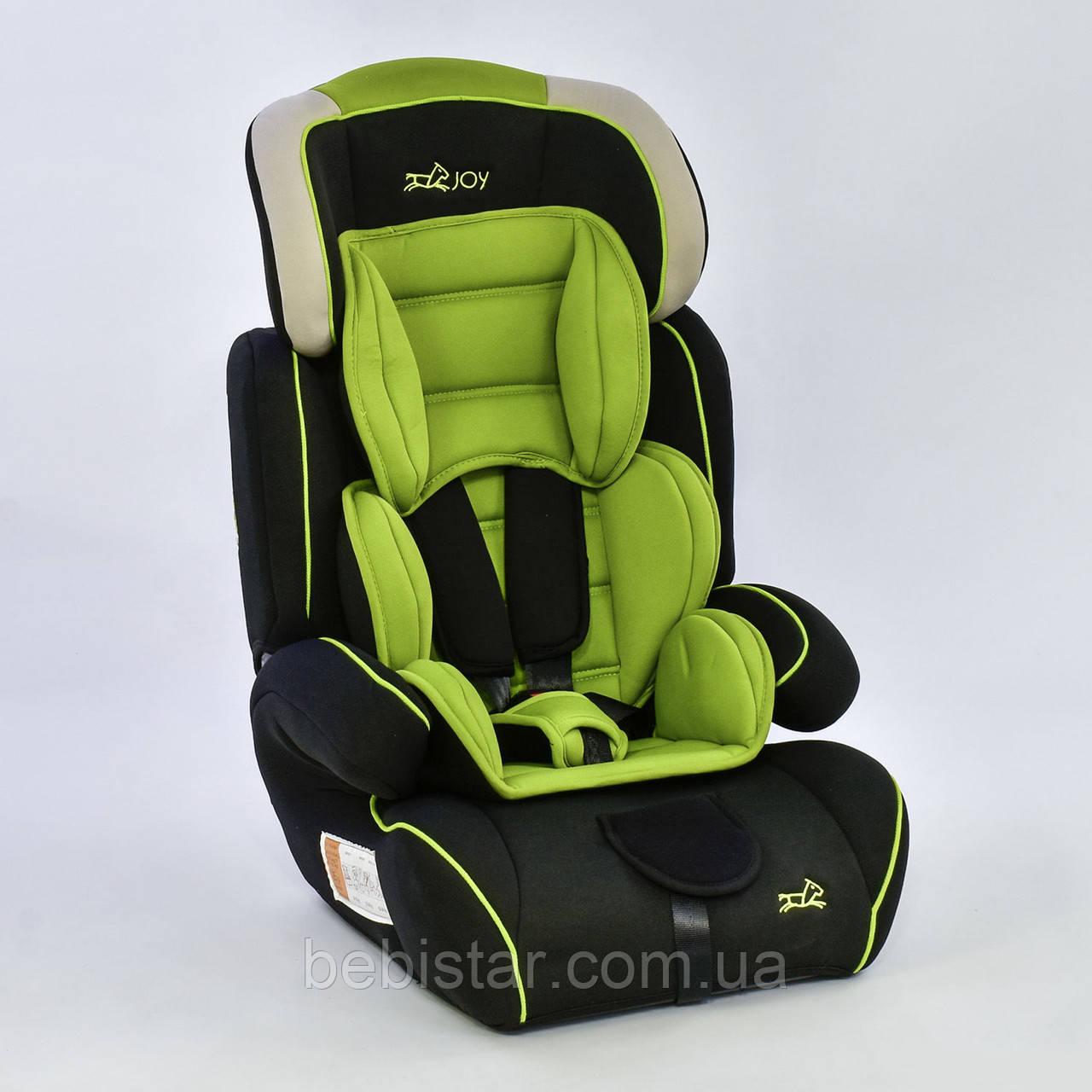 Дитяче автокрісло сіро-зелене JOY