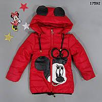 Демисезонная куртка Minnie Mouse для девочки. 100 см, фото 1