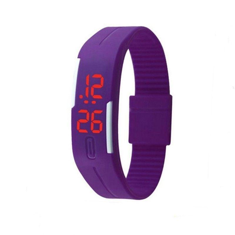 """LED наручные часы """"Light Shadow"""" с ярким силиконовым браслетом (Фиолетовый)"""