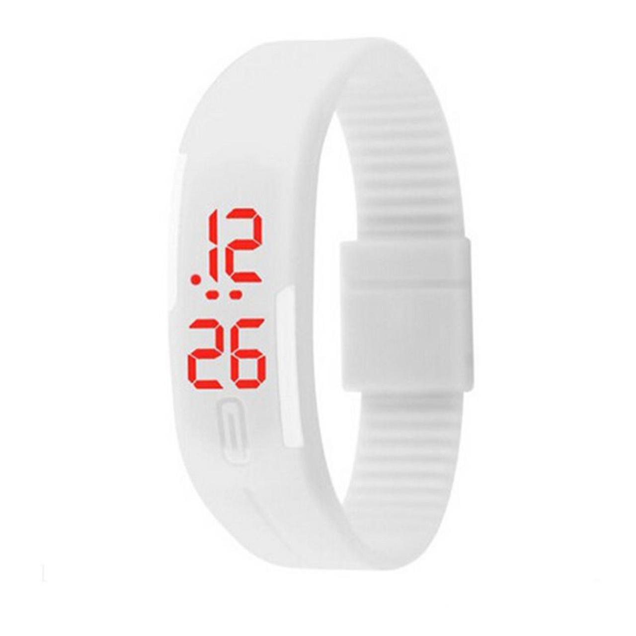"""LED наручные часы """"Light Shadow"""" с ярким силиконовым браслетом (Белый)"""