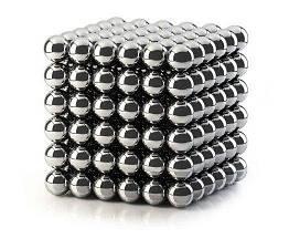 Неокуб Никелевый  216 шариков 5 мм Silver КОД: 386361