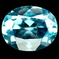 2.83 карат Природный небесный голубой топаз Бразилии , фото 1
