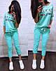 """Женский костюм с принтом """"GUCCI"""" в расцветках. ТУ-2-0319, фото 5"""