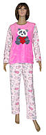 NEW! Теплые зимние флисовые пижамы для девочек подростков - серия Мишка Pink флис / махра ТМ УКРТРИКОТАЖ!