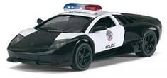 """Машинка KINSMART """"Lamborghini Murcielago LP 640"""" (полиция) KT5317WP"""