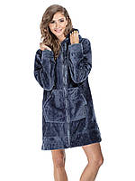 Короткий женский халат AGNES с карманами (S/M, L/XL в расцветках), фото 1