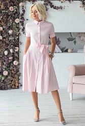 Платье-рубашка пудра Viravi Wear, модель 1010