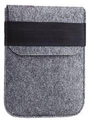 Чехол войлочный на резинке Gmakin для Amazon Kindle Paperwhite Светло-серый GK01, КОД: 145063