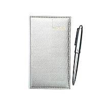 Набор: блокнот + ручка серебро