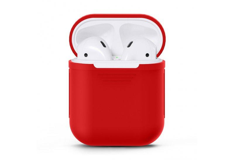 Чехол для наушников Grand для Apple AirPods silicone case Dark Red AL1244, КОД: 146251